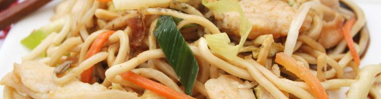 gebratene Nudeln oder Reis