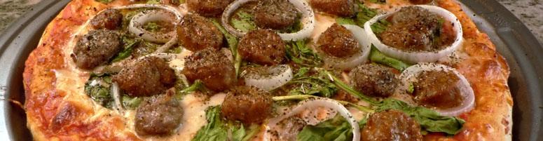 Pizza Rindfleisch