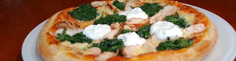 Knusprige Pizza