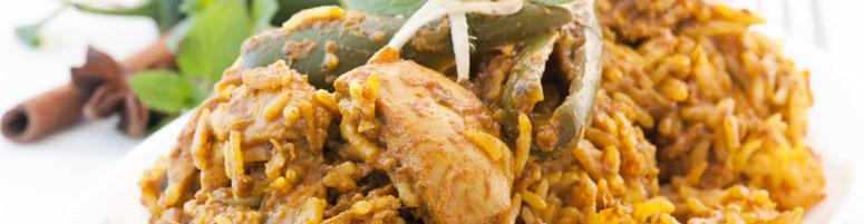 Indische Reisgerichte