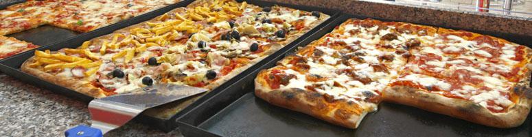 Pizza nach Plan-Belag